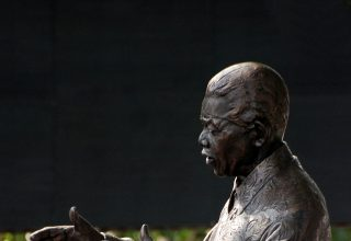 Gold Castings of Nelson Mandela's Hands Sell for $10m in Bitcoin